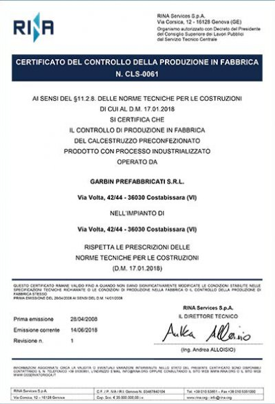 Certificato CLS-0061
